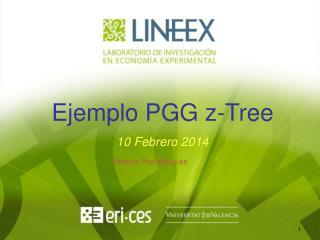 Ejemplo PGG  z- Tree 10 Febrero 2014