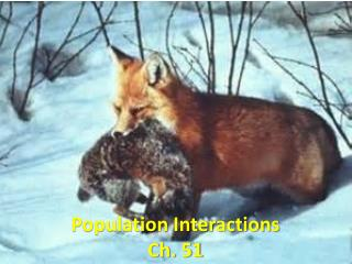 Population Interactions Ch. 51