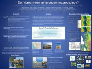 Do microenvironments govern  macroecology ?