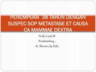 PEREMPUAN  38  TAHUN  DENGAN SUSPEC SOP METASTASE ET CAUSA CA MAMMAE DEXTRA