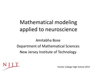 Mathematical modeling  applied to neuroscience