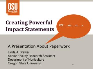 Creating Powerful  Impact Statements