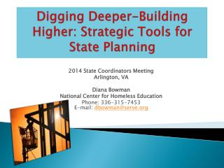 Digging Deeper-Building Higher: Strategic Tools for State Planning