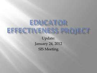 Educator Effectiveness Project