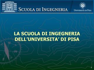 LA SCUOLA DI INGEGNERIA DELL'UNIVERSITA' DI PISA