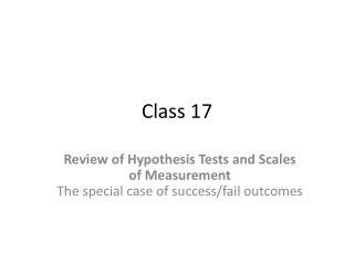 Class 17