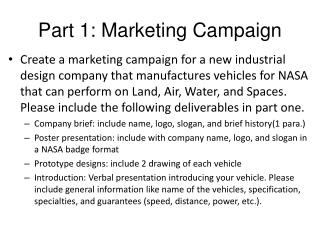 Part 1: Marketing Campaign