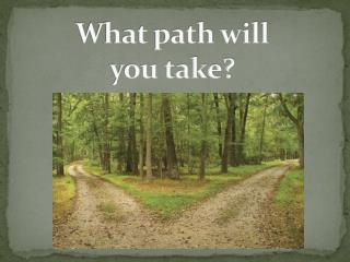 What path will  you take?