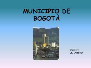 MUNICIPIO DE BOGOTÀ