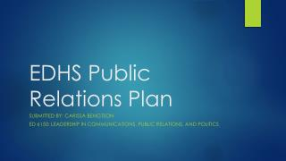 EDHS Public Relations Plan