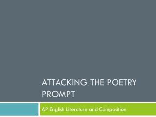 Attacking the Poetry Prompt