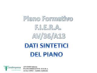 Piano Formativo  F.I.E.R.A.  AV/36/A13