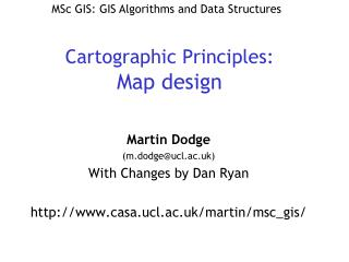Cartographic Principles: Map design