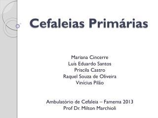 Cefaleias Primárias