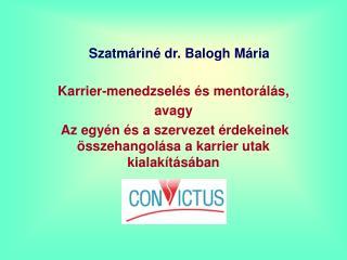 Szatm rin  dr. Balogh M ria
