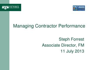 Managing Contractor Performance