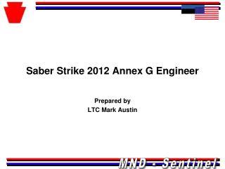 Saber Strike 2012 Annex G Engineer