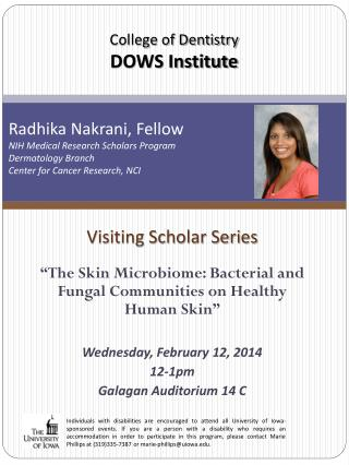 Visiting Scholar Series