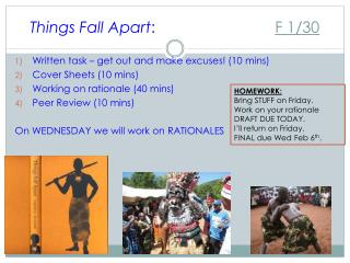 Things Fall Apart :	 F  1/30