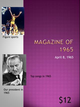 Magazine of 1965
