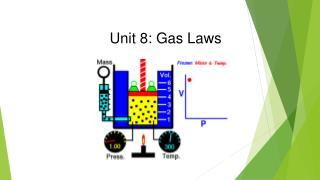 Unit 8: Gas  Laws