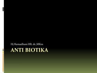 Anti Biotika