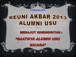 reuni akbar 2013 alumni usu