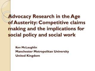 Ken McLaughlin Manchester Metropolitan University United Kingdom