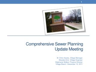 Comprehensive Sewer Planning Update Meeting
