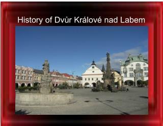 History of Dvůr Králové nad Labem
