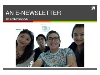AN E-NEWSLETTER