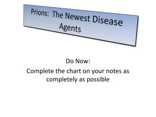 Prions :  The Newest Disease Agents
