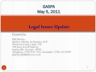 GASPA May 5, 2011
