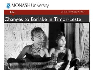 Changes to Barlake in Timor-Leste