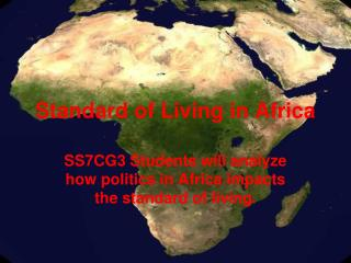 Standard of Living in Africa