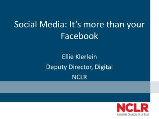 Social Media: It's more than your Facebook
