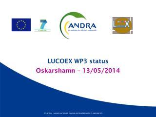 LUCOEX WP3 status
