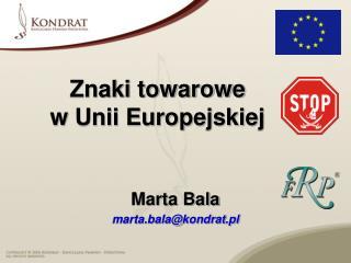 Znaki towarowe  w Unii Europejskiej