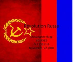 Révolution Russe