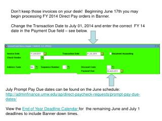 Don't keep those invoices on your desk!  Beginning June  17th  you may