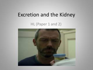 Excretion and the Kidney