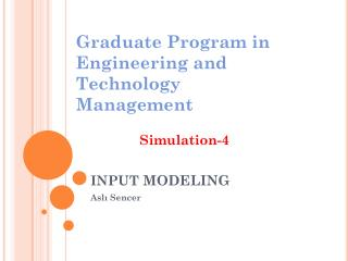 INPUT  modeling