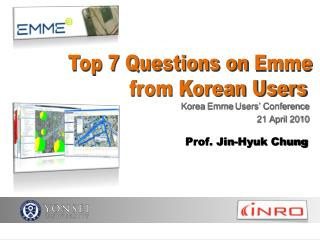 Korea  Emme  Users' Conference 21 April 2010