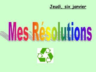 Mes Résolutions
