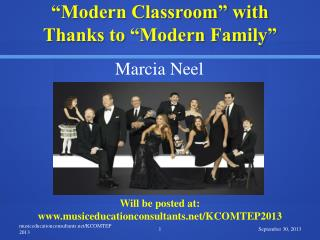 """Modern Classroom"" with  Thanks to ""Modern Family"""