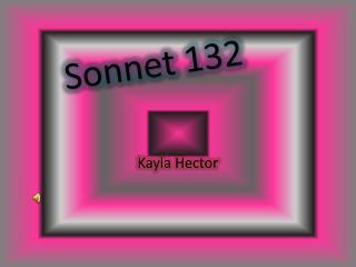 Sonnet 132