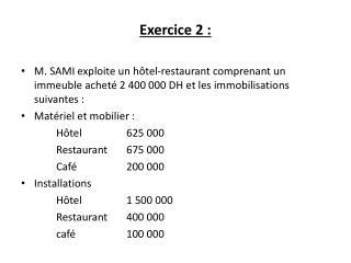Exercice 2: