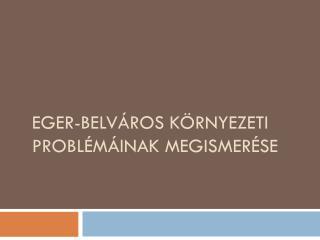 Eger- belváros környezeti problémáinak megismerése