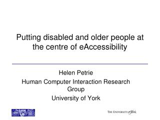 Putting disabled and older people at the  centre  of  eAccessibility