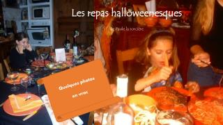 Les repas halloweenesques